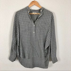 Madewell pullover women's gingham blouse S